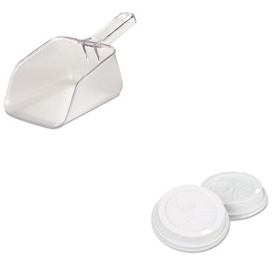kitdxe9542500dxctrcp2884cle – Valueキット – Rubbermaid Bouncerバー/ユーティリティスクープ( rcp2884cle ) and Dixieドームdrink-thru Lids ( dxe9542500dxct ) B00MONE1PG