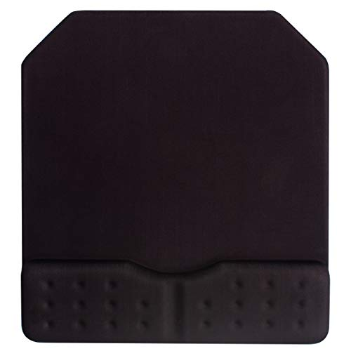 BRILA Large Gaming Mouse Pad with Wrist Rest Support Cushion Pad - Ergonomic Wrist Shape with Massage Holes Design - Nonslip Base Big Mice Mat for PC Gaming & Office Work - 9.5 x 10.2 (Black)