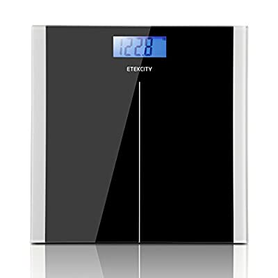 Etekcity High Precision 11lb-400lb Digital Body Weight Bathroom Scale, Black