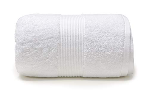 Plus Plush Towels | 32 x 80 Inch Extra Large Bathroom Towel Sheet | Luxury Absorbent Oversize Bath Towel | Fits Plus Size | New Size (White)