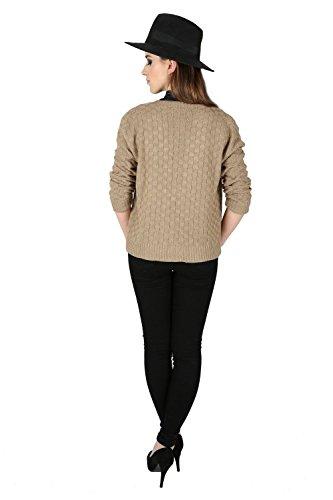 Oops Outlet Femmes Damier Tricot Maille Manches Longues Ouvert Front Cardigan Boléro Cache Épaules Grande Taille UK 8-22 - Noir, M/L (EU 40/42)