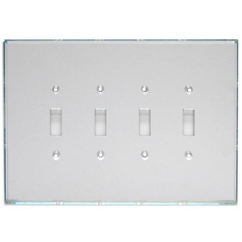 GlassAlike® Quad Single Toggle Switch Acrylic Mirror Switch Plate
