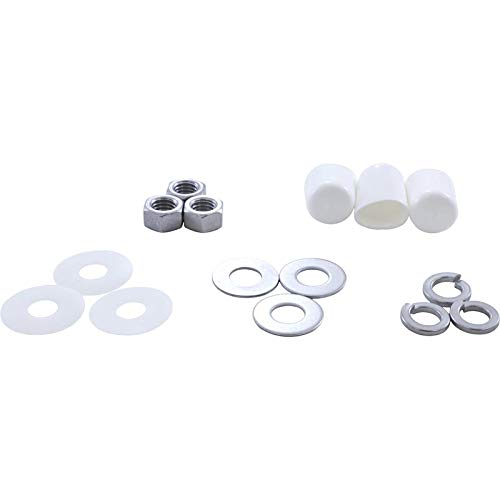 - Inter-Fab DS-BK Duro Spring Base to Jig Stainless Steel Pool Replacement Ki Diving Board Mounting Hardware Kit, White