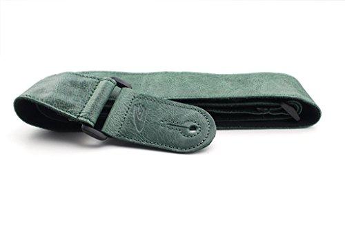 LeatherGraft Emerald Green Genuine Leather Soft Classic Vintage Distressed Guitar Strap ()