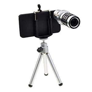 Etekcity Long Focal 12 x Zoom Telescope Lens Kit for Mac/Apple iPhone 5 Smart Phone
