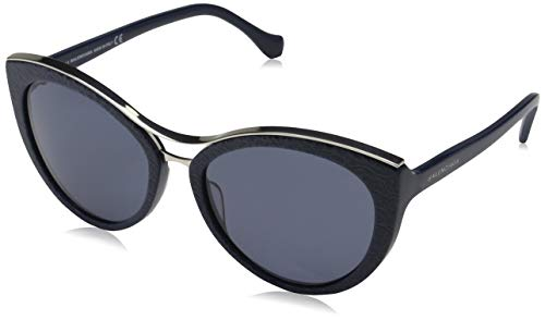 Sunglasses Balenciaga BA 33 BA0033 90A shiny blue / smoke