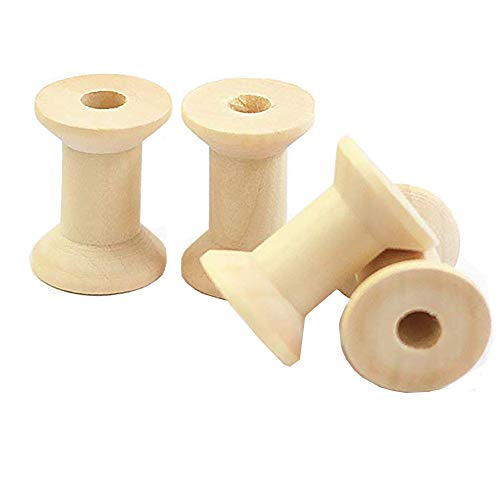 - TANG SONG Unfinished Mini Wooden Spools Wood Spools, Thread Bobbin Cord Wire Sewing 1.1''x0.8''(Pack of 50)