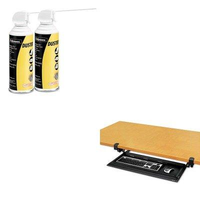 KITFEL8038302FEL9963201 - Value Kit - Fellowes DeskReady Keyboard Drawer (FEL8038302) and Fellowes Air Duster (FEL9963201)