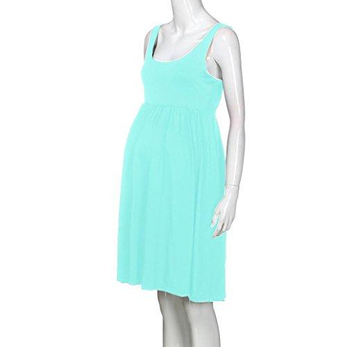 0bcaa4c2bff4 ... MCYs Damen Umstandskleid Stillkleid Umstandsmode Schwangerschafts Kleid  Rundhals Pregnants Pflege Mutterschaft Solid Weste Kleid Grün 3a9dDxh5B2 ...