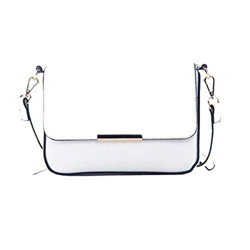 Vintage Ropa De Mujeres De Doble Hoja Mini Cross Body Bag Multicolor White