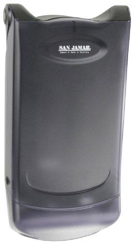 San Jamar H5004P Venue Wall Mount Mini Interfold Napkin Dispenser, 600 Capacity, 8'' Width x 15-3/4'' Height x 5-9/10'' Depth, Clear by San Jamar (Image #1)
