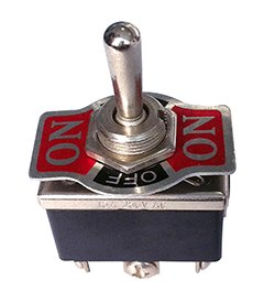 Heavy Duty Toggle Switch DPDT Center Off Momentary One Side One Side On-Off 20 Amp