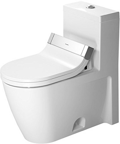 (Duravit 21335100051 One-piece toilet Starck 2 white w.mech,siphon jet,elong,HET,WG,)