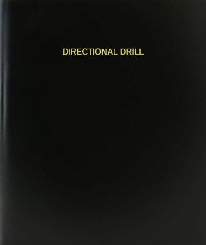 "BookFactory® Directional Drill Log Book / Journal / Logbook - 120 Page, 8.5""x11"", Black Hardbound (XLog-120-7CS-A-L-Black(Directional Drill Log Book))"