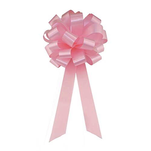Rose Petal Pink Pull Bows with Tails - 8