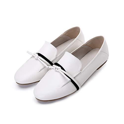 work FLYRCX shoes shoes slip comfortable Casual leather fashion ladies pregnant flat White shoes women shoes tTxqtrnU
