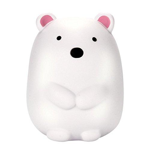 Waymine Kawaii Esponja de crecimiento lento gigante, lindo oso polar con aroma a crema; encantadores juguetes para regalo...