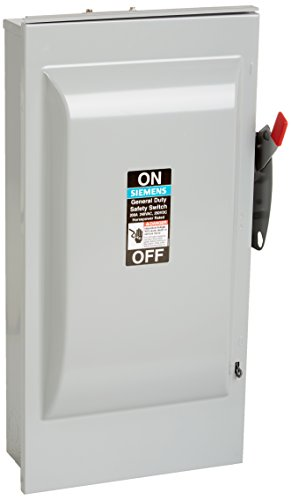 SIEMENS GNF324R 200 Amp, 3 Pole, 240-Volt, 3 Wire, NON-Fused, General Duty, Outdoor Rated