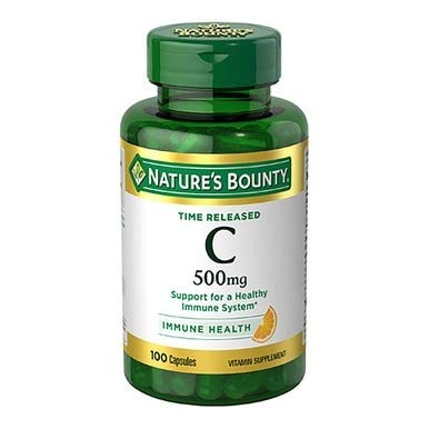 Nature's Bounty Vitamin C 500 mg Capsules Time Released 100 Capsules (Pack of 3)