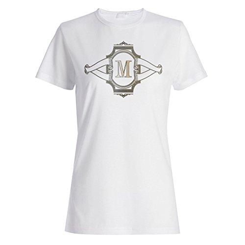 Logo mit m Großbuchstaben Design Damen T-shirt g662f