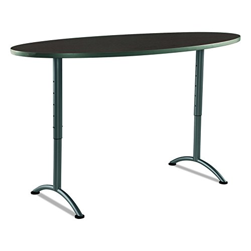 Iceberg ICE69624 ARC 6-foot Adjustable Height Oval Conference Table, 36'' x 72'', Walnut/Gray Leg by Iceberg (Image #1)