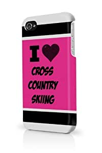Cross Country Skiing Pink iPhone 5/5S Case - For iPhone 5/5S - Designer PC Case Verizon AT&T Sprint