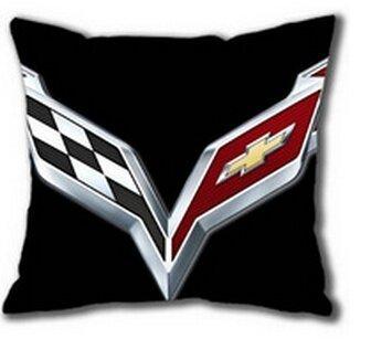 Custom Chevrolet Corvette Logo Zippered Rectangle Pillow Cases 18x18 Inch (Two Side Printed) -