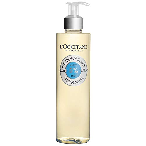 L'Occitane Shea Face Cleansing Oil with 5% Shea Oil to Remove Impurities or Make-up, 6.7 Fl Oz (Oil Off Cleanse)
