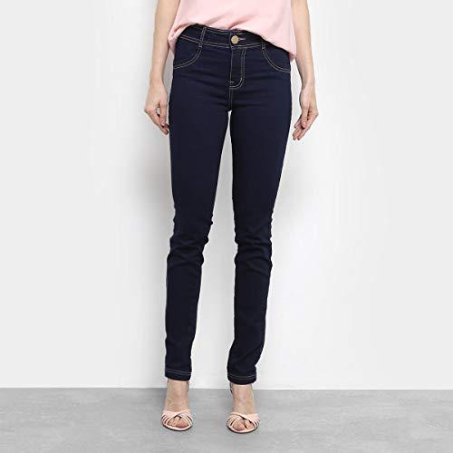 Calça Jeans Skinny Dimy Cintura Alta Feminina - Azul - 40
