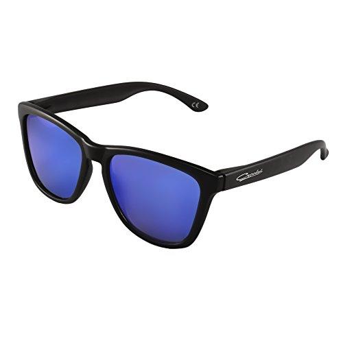 Sol de Polarizadas de Unisex con Sol Classic Gafas Azul Gafas Crooked Prtección 100 UV400 w518BnxqI