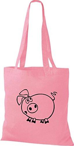 De Bolsa Shirtstown Cerdito Animales Rosa Sau Cerdo Tela 5Bqxqw1d