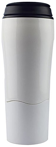 Grade School Computer Desk - Comcl Spill Free Coffee Mug with Magic Sucker -16oz Innovative Won't Tip Over Travel Coffee Cup Tumbler Mug with Splash Proof Lid - Great for Home, Office, School, Ice Drink, Hot Beverage (White)