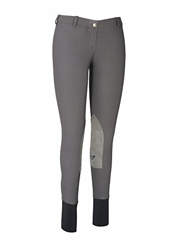TuffRider Women's Ribb Lowrise Pull-On Breeches, Dark Charcoal, 28 ()