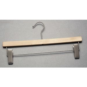 Youth Pant Hanger Wood Natural Case of 100 by Retail Resource