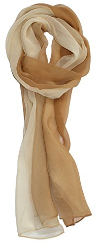 Ted and Jack - Silk Ombre Lightweight Accent Scarf in Beiges