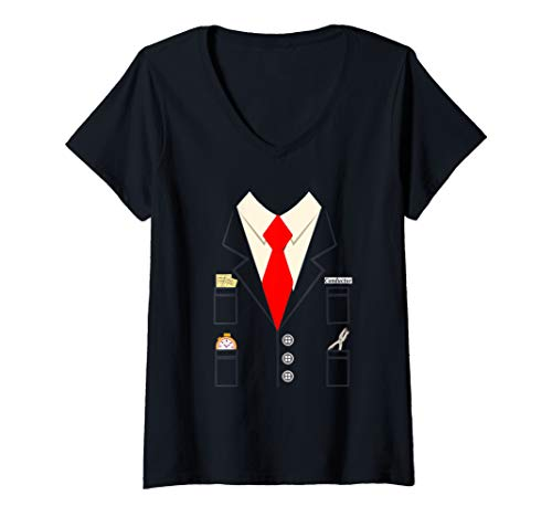 Womens Train conductor costume for kids and adults Halloween Shirt V-Neck -