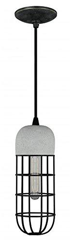 Black Iron Vaxcel P0073 5-Inch Concrete Mini Pendant