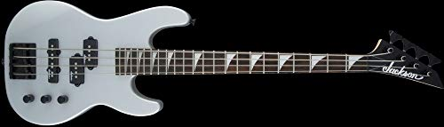 Jackson JS Series Concert Bass Minion JS1X Electric Bass Guitar (Satin Silver) (Short Scale Bass Guitar)