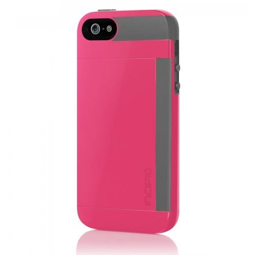 best service 21ccf b986b Incipio Stowaway Wallet Credit Card Hard Protective Case for iPhone 5 5S SE  Cover-Pink/Gray