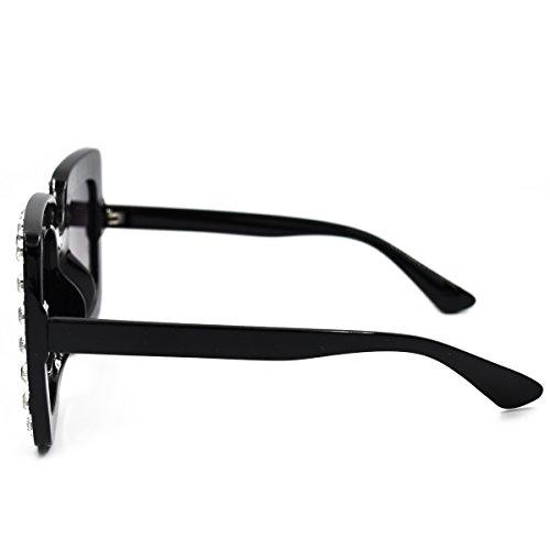 5c659b1b8ebb SamuRita Elton Square Diamond Rhinestone Sunglasses Novelty Oversized  Celebrity Shades
