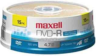 Maxell 638006 DVD-R 4.7 Gb Spindle with 2 Hour Recording Time and Superior Recording Layer Technology with 100 Year Archival Life
