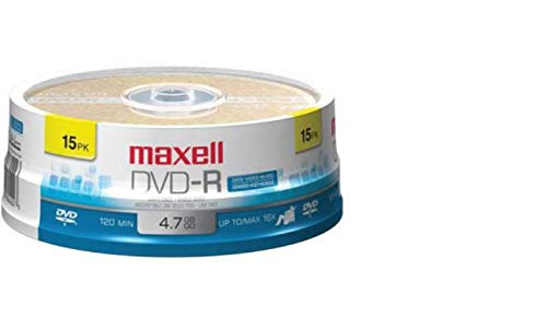 - Maxell 638006 DVD-R 4.7 Gb Spindle with 2 Hour Recording Time and Superior Recording Layer Technology with 100 Year Archival Life