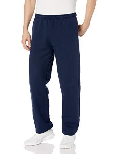 Gildan Men's Big and Tall Fleece Open Bottom Pocketed Pant, Navy, XX-Large (Mens Xxl Sweatpants)