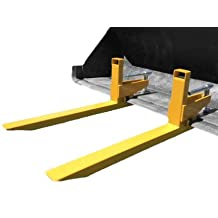 Clamp on to bucket pallet fork for tractors and skid steer loaders, 2000 lb capacity, priced each (you must order 2 of this item to get a set)