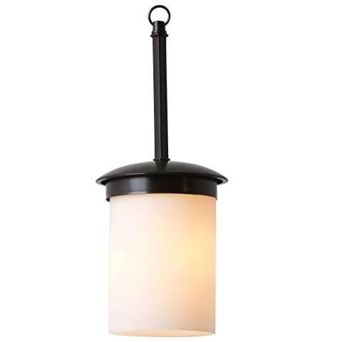 Yosemite Home Decor 101-1P-ORB Columbia Rock 1-Light Mini Pendant with Etched Opal Glass Shade - Etched Opal Glass Shade