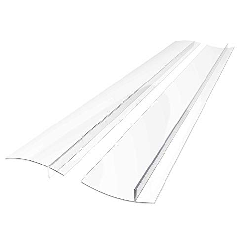 25 inches Silicone Stove Counter Gap Cover (Set of 2) by Kettio, Seals Out Spills Between Counters, Appliances, Dryers, Stoves, Washing Machines and More - Clear (25 Inch Wall Ovens)