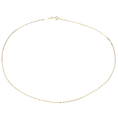 (SM SunniMix 925 Sterling Silver Long Twist Snake Chain Necklace for Charms Pendants 18'' DIY Crafting Women Gifts - Gold)
