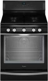Whirlpool WFG715H0EE 5.8 Cu. Ft. Self-Cleaning Freestanding Gas Convection Range Black Ice