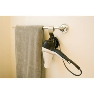UPC 872974012705, Great Useful Stuff Stainless Steel Hair Dryer Holder with Cable Hook