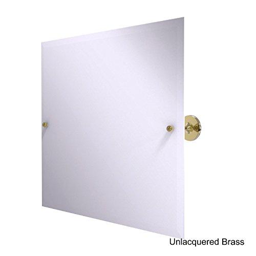 Landscape Beveled Dresser Mirror - Allied Brass SL-93-Bbr Shadwell Collection Frameless Landscape Rectangular Tilt Mirror with Beveled Edge